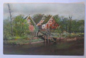 Künstlerkarte, Landschaft, Landhaus, 1920, Meissner & Buch ♥ (18426)