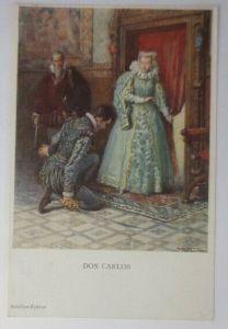 Künstlerkarte, Don Carlos, Schiller-Zyklus,1910, Munk Vienne ♥ (6092)
