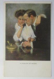 Künstlerkarte, Frauen, Männer, Mode, Brief,  1918, Munk Vienne  ♥ (11733)