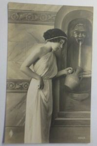 Frauen, Mode, Brunnen, Jugendstil,  1919 ♥ (7330)