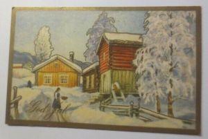 Weihnachten, Winterlandschaft, Haus,     1930 ♥ (43997)