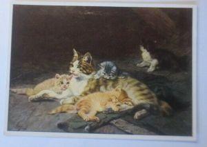 Katzen, Katzenfamilie, 1980, Julius Adam, Emil Köhn ♥ (72674)