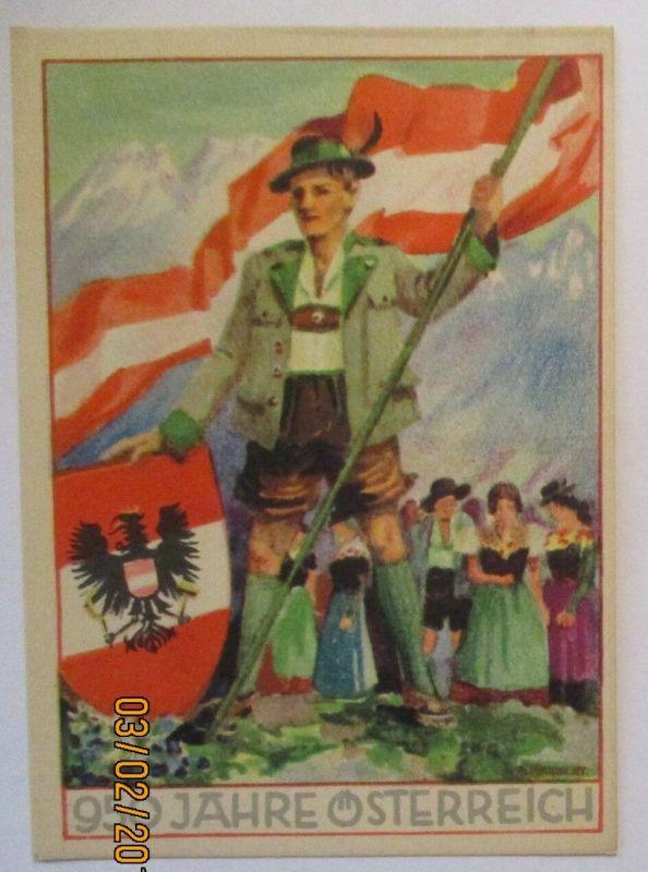 950 Jahre Österreich, Sonderkarte 1946 (34265)