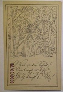 Deutscher Soldat, Scharfschütze Sniper, Künstlerkarte sign. Seliger (14382)