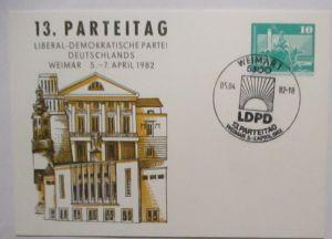 Politik Liberaldemokratische Partei LDPD (FDP) DDR Privatganzsache (70805)