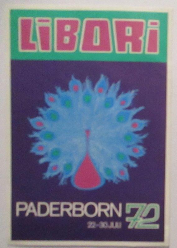 Tiere Pfau Libori Festwoche Paderborn 1972 (72456)