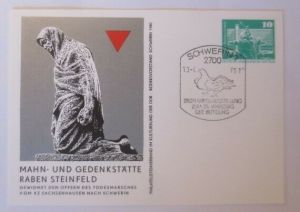 DDR Privatganzsache Mahn und Gedenkstätte Raben Steinfeld 1980 SST ♥ (72540)