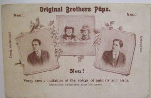 Zirkus Theater Clowns Original Brothers Püps ca. 1900 (27388)
