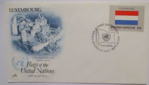 UNO Luxemburg Flags of the United Nations FDC (72452)