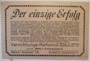 Österreich, frankierte Werbung Vermittlungs-Reform , Immobilien 1913 (42806)