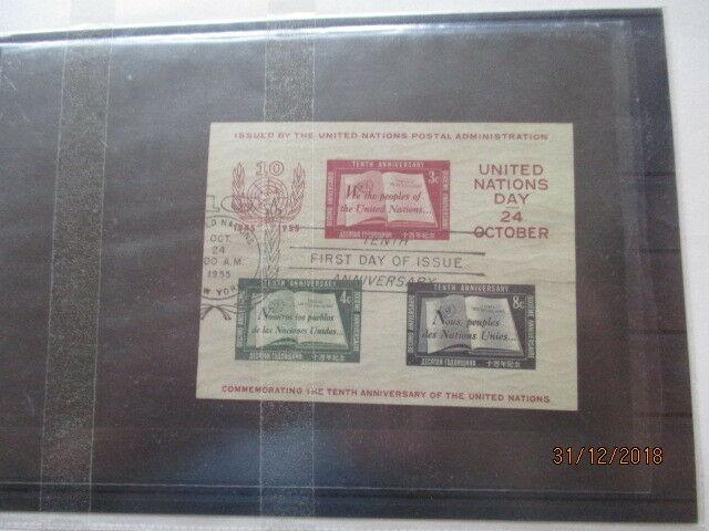 UNO New York 1951-1972 ca.5000 gest. Marken im Album, dabei einmal Block 1