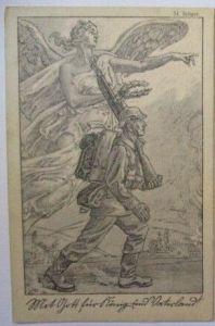 Mit Gott für König und Vaterland, Künstlerkarte sign. Seliger 1915 (16631)