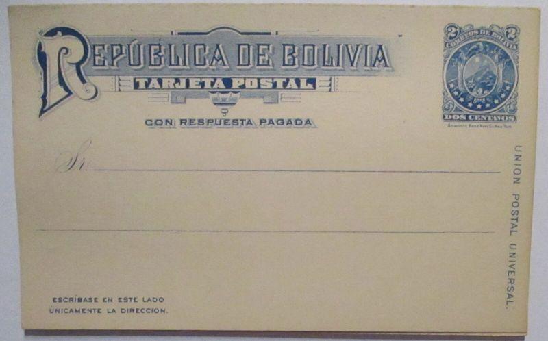 Bolivien Doppel-Ganzsache ca. 1890 ungebraucht (72445)