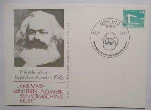 Politik Sozialismus Karl Marx DDR Privatganzsache (72424)