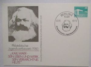 Politik Sozialismus Karl Marx DDR Privatganzsache (72423)