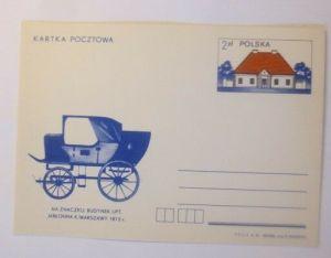 Polen Sonderganzsache Auf dem Stempel Gebäude, Kutsche,   1981 ♥ (72401)