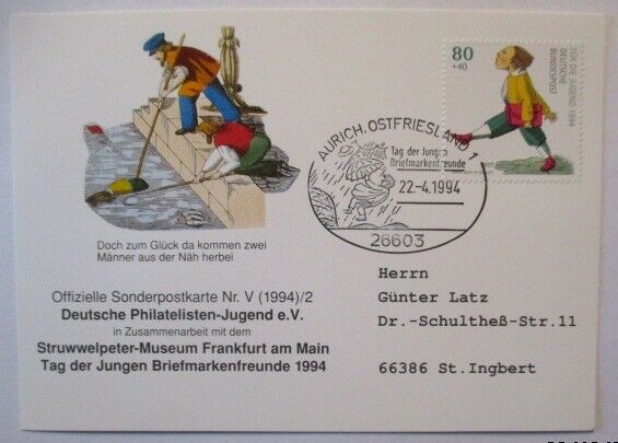 Wilhelm Busch, Struwelpeter, Hans Guck in die Luft, Aurich 1994 (71630)