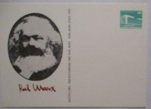 Politik Sozialismus Karl Marx DDR Privatganzsache (72422)
