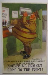 Großbritannien Bier Another Big Draught sign. Donald McGill (72421)
