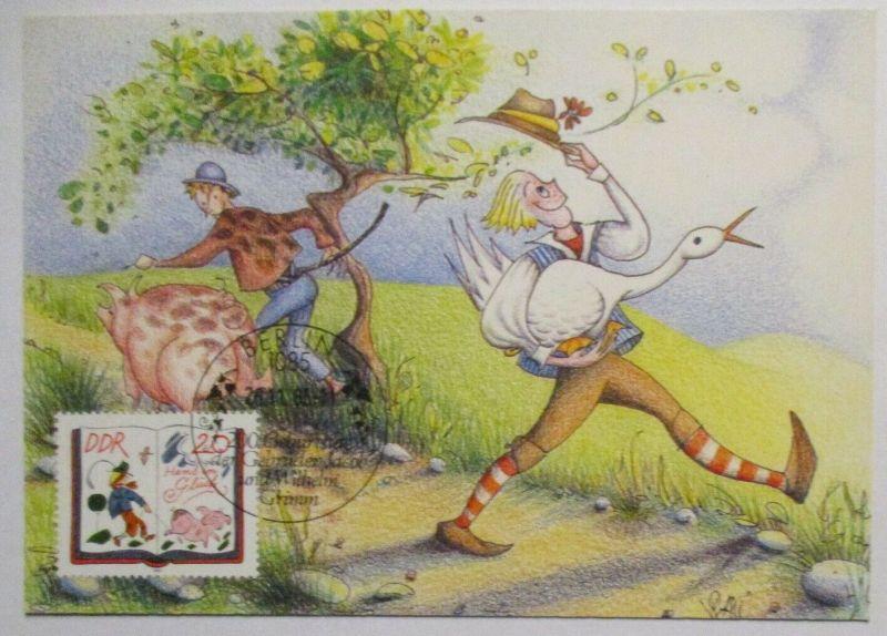 Märchen Gebrüder Grimm , Hans im Glück Maximumkarte DDR (41326)