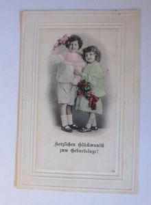 Geburtstag, Kinder, Mode, Blumen,  1905 ♥  (28884)