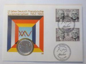 Numisbrief 25 Jahre Deutsch-Französische Zusammenarbeit 1963-1988 ♥ (72411)