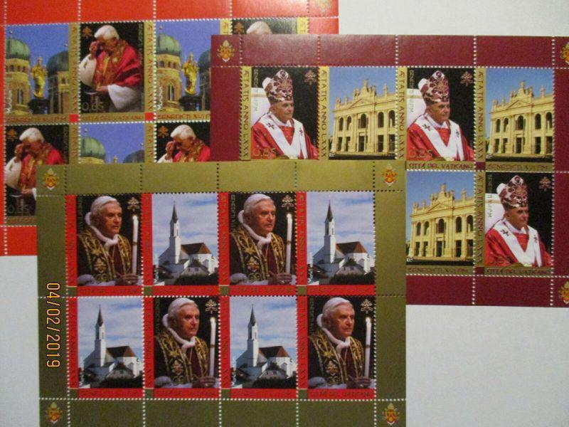 Vatikan 1573-1575 Kleinbogen Papst Benedikt postfrisch 2007 (36367)