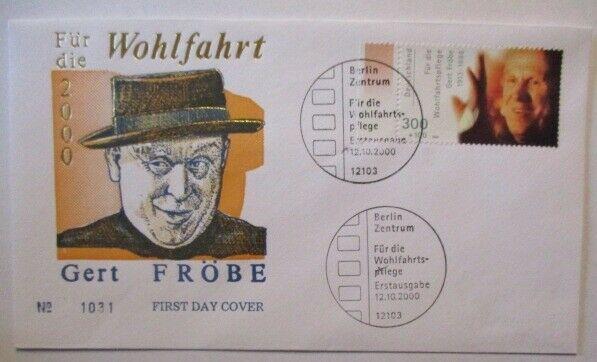 Film Schauspieler, Gert Fröbe FDC 2000 (7266)