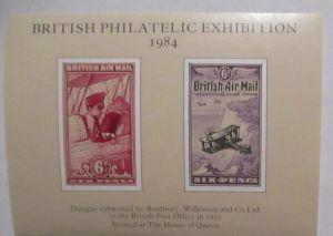 Großbritannien British Philatelic Exhibition 1984 xx Vignettenblock (19062)