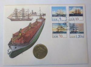 Numisbrief DDR 500 Jahre Schiffer.Compagnie zu Stralsund ♥ (72407)