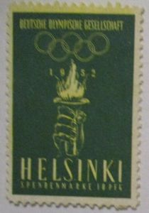 Olympische Spiele Helsinki 1952 Spendenmarke (49331)