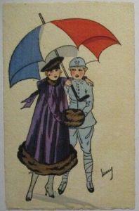 Frankreich, Frauen Soldaten Fräulein Feldgrau, Künstlerkarte sign. Marcy (27017)