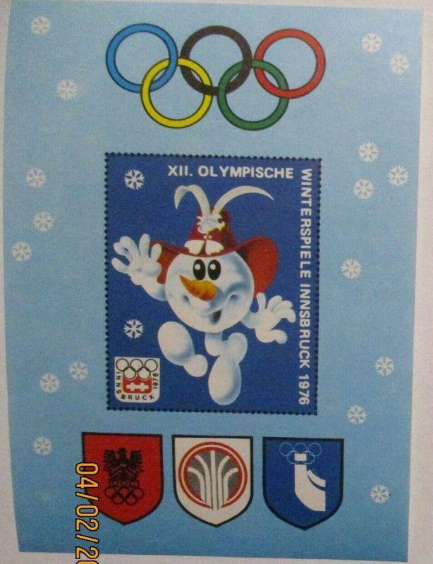Olympia Innsbruck 1976 Vignettenblock postfrisch (28522)