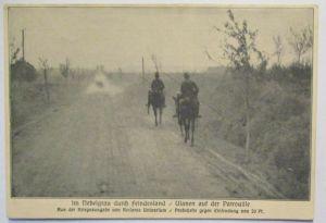 Reclam Kriegsbilder, Deutsche Ulanen auf der Patrouille, Landsturm 1915 (48391)