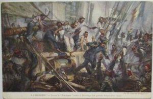 Frankreich Türkei Marine, Eroberung eines türkischen Schiffes (28639)