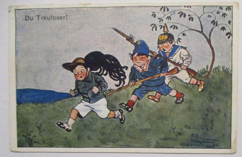 Großbritannien Inghilierra Patriotik Firenze Italien 1918 (41317)