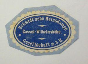 Vignetten, Verschlußmarken, Schmidt´sche Heissdampf Kassel Wilhelmshöhe ♥