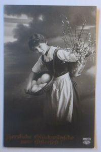 Ostern, Frauen, Mode, Korb, Weidenkätzchen, Eier,  1910 ♥ (54153)