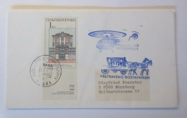 Hubschrauber, Postkutsche, Praga, Prepraveno Vrtulnikem,  1963 ♥ (30278)
