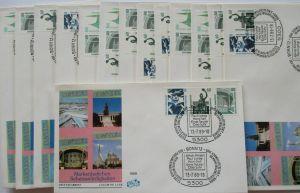 Bund, Sehenswürdigkeiten, 14 Zusammendruck FDC von 1989 52638