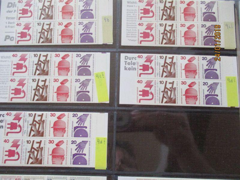 Bund Berlin 106 verschiedene postfrische Markenheftchen im Leuchtturm Album