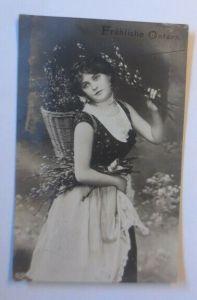 Ostern, Frauen, Mode, Korb, Weidenkätzchen,  1908 ♥ (54757)