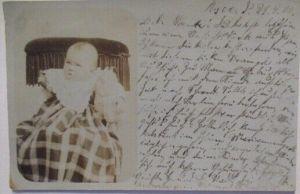 Kind Baby, Fotokarte 1900 aus Posen (28746)