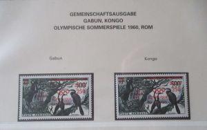Gabun Kongo Gemeinschaftsausgabe Olympia 1960 postfrisch (19136)