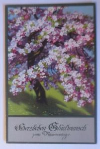 Namenstag. Frühling, Blüten, Baum,  1910, Meissner & Buch ♥ (49917)