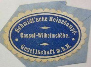 Vignetten, Verschlußmarken, Schmidt´sche Heissdampf Kassel-Wilhelmshöhe ♥