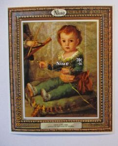 Niue, Block Kunst Gemälde Goya postfrisch (57425)