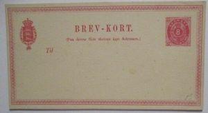 Dänemark, Ganzsache 1875 ungebraucht (66882)