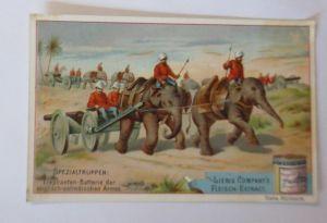 Kaufmannsbilder, Liebig,Spezialtruppe Elefanten-Batterie Englisch-Ostin♥