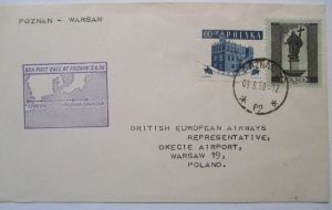 Polen BEA Erstflug Poznan-Warschau 1958 24011